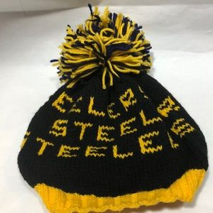 Pittsburgh Steelers Knit Toboggan Hat Pom